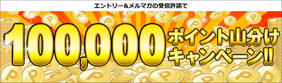 エントリー&メルマガの受信許諾で楽天スーパーポイント100,000ポイント山分けプレゼント!