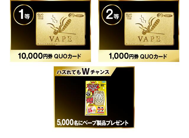 金のQUOカードが当たる!