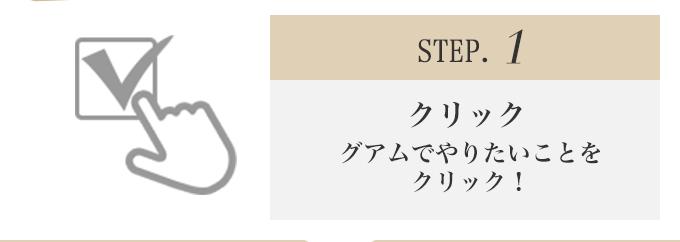 STEP.1 グアムでやりたいことをクリック!