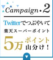 Campaign.2 Twitterでつぶやいて楽天スーパーポイント5万ポイント山分け!