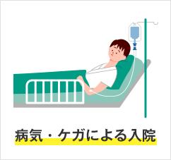 病気・ケガによる入院