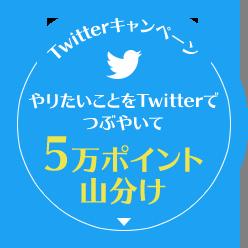 Twitterキャンペーン やりたいことをTwitterでつぶやいて5万ポイント山分け