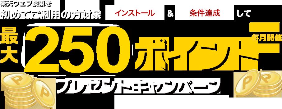 楽天ウェブ検索をご利用の方対象250ポイントプレゼントキャンペーン
